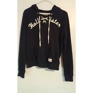 Navy Hollister Lace Up Pullover Sweatshirt